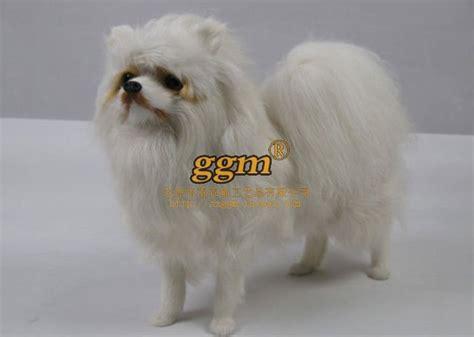 white pomeranian stuffed animal emulate white pomeranian plush simulation animal jpg