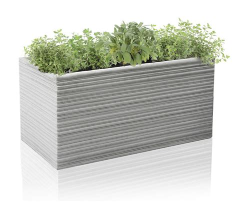 berniss fibrecotta trough planter l50cm planters polystone