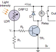 use photoresistor as switch light sensor including photocell and ldr sensor