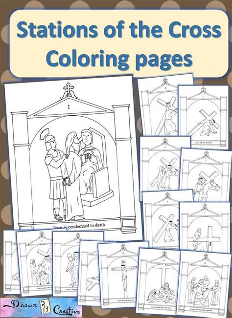 stations   cross coloring pages catholic printables