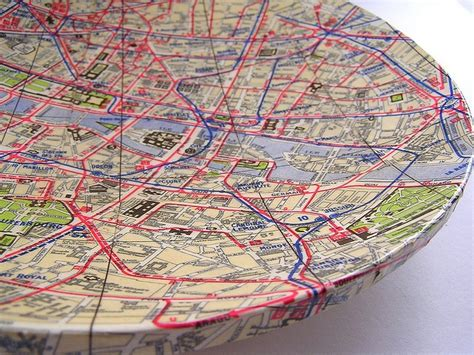 Map Decoupage - decoupage map bowl maptastic