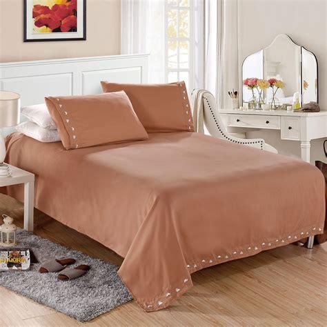 bedroom sheet sets home textile satin silk bed sheet set solid bedding set 4
