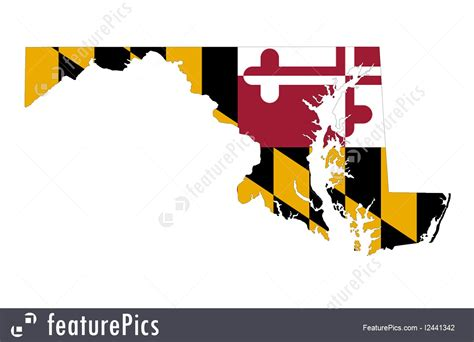 maryland map clipart state of maryland illustration