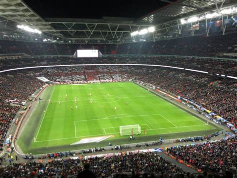 Wembley Stadium Sections by Wembley Stadium Section 541 Row 4 Seat 54 Vs