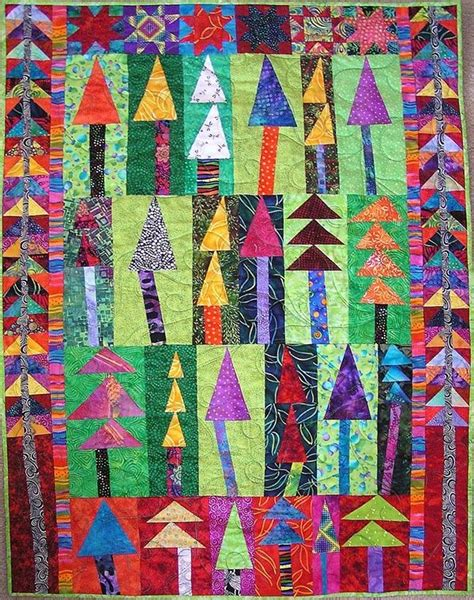 wonky christmas tree quilt pattern wonky tree quilt quilt wonky houses and trees pinterest