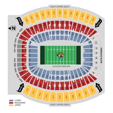 jaguars tickets seating chart jacksonville jaguars ticket and seating information