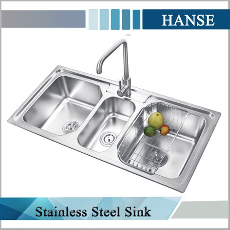 3 Compartment Kitchen Sink K E10850tb Stainless Steel Sink 3 Compartment Kitchen Sink 3 Bowl Sink Buy Stainless
