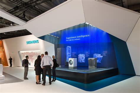 booth design retail siemens home appliances stand by kms blackspace and