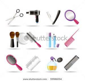 Hair Dryers And Straighteners On Airplanes clipart image cosmetic make up and hairdressing icons