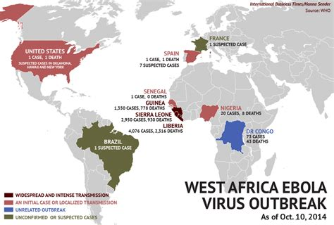 ebola virus outbreak 2014 updated ebola outbreak map your news wire