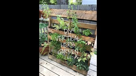 diy vertical herb garden pallet my crafts and diy projects