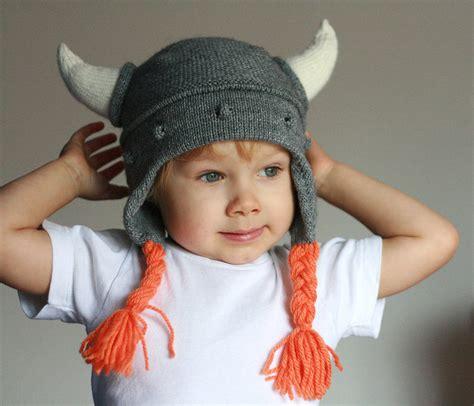 viking knit hat viking hat viking hat with hornes child knit hat