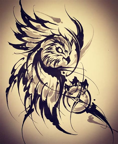 japanese owl tattoo designs 1000 ideas about brush stroke on