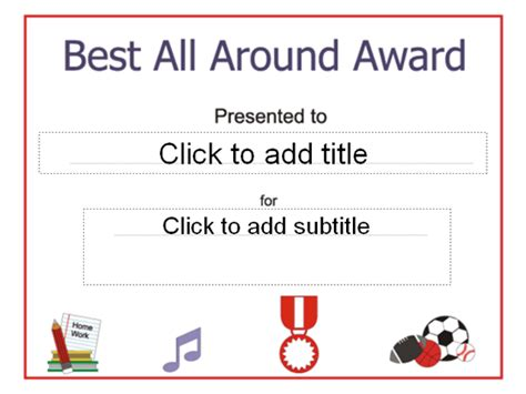 best all around best all around award certificate free certificate templates in academic award