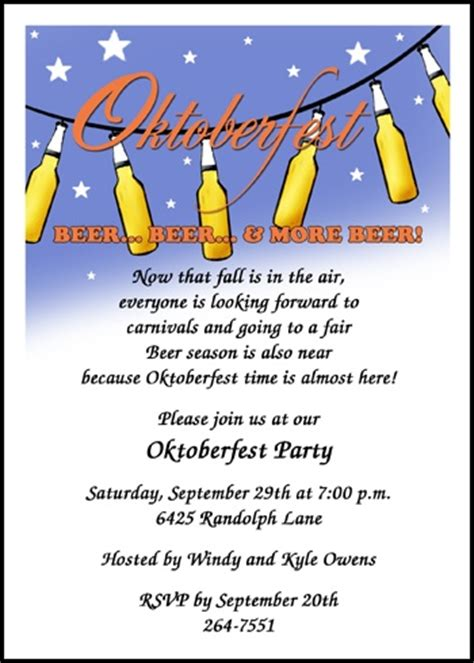 Sle Invitation Letter For Birthday In German Creative Oktoberfest Invitation Wording Sles And Ideas