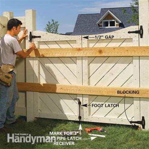 how to build a double swing gate how to build a double swing wood gate