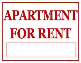 to let sign template printable apartment for rent sign
