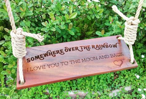 personalized tree swing custom engraved tree swing brazilian walnut