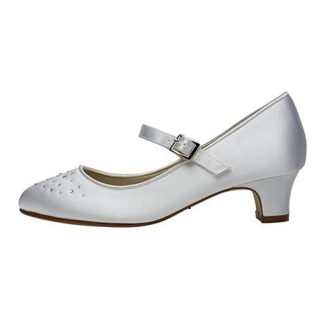 club shoes rainbow club verity white satin bar shoes shoes co uk