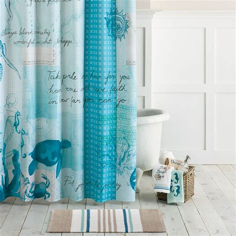 baby bathroom shower curtains shoreline shower curtain collection everything turquoise