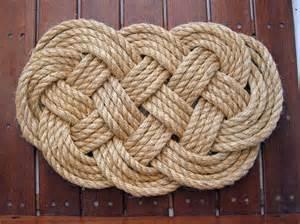 woven rope rug diy plait rope rug