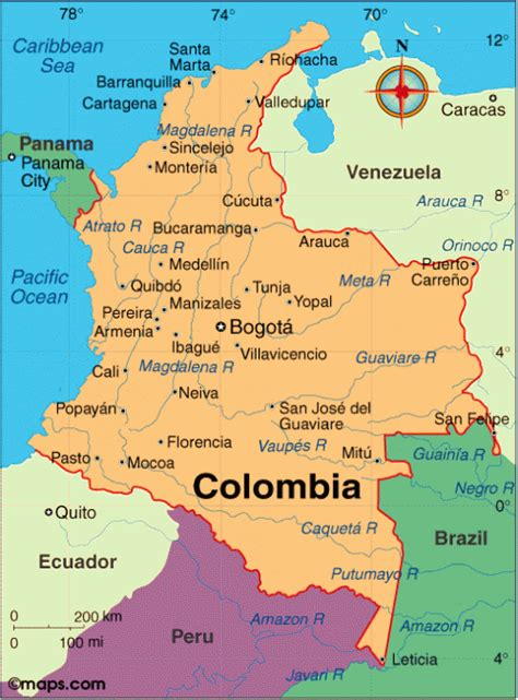 colombia on a world map colombia for travelers photo galleries hostels and