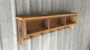 barn wood shelf rustic reclaimed barnwood shelf cubby coat rack by