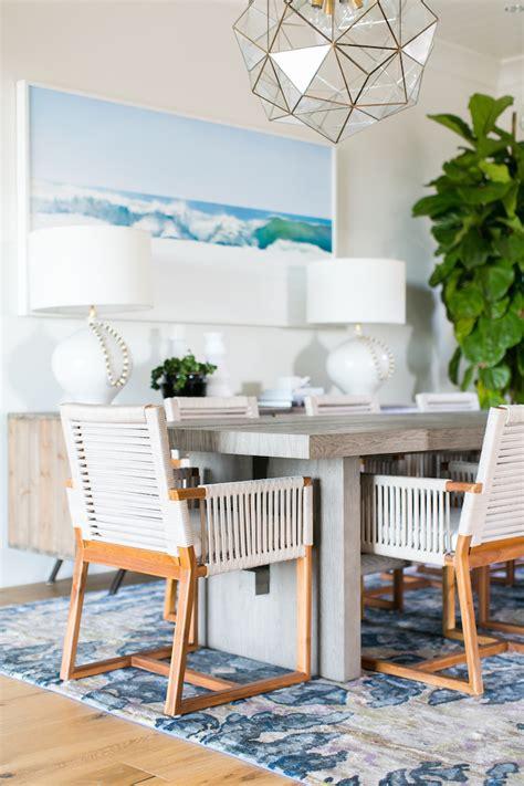 Coastal Interiors Dining And Living A Coastal Dining Room Designed By Becki Owens