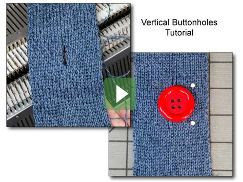 knit vertical buttonhole knitting knit it now