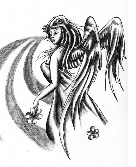 angel tattoo drawings praying images designs