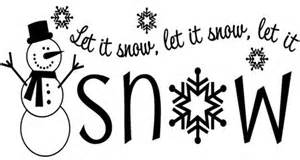 Foam Christmas Ornaments - let it snow vinyl lettering christmas home decor decal wall sticker art