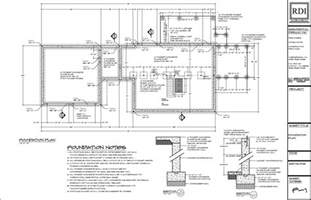 plan drawings foundation plans residential design inc