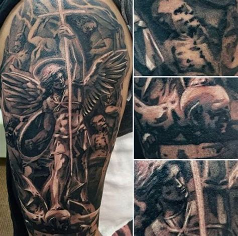 saint michael tattoo designs 75 st michael designs for archangel and