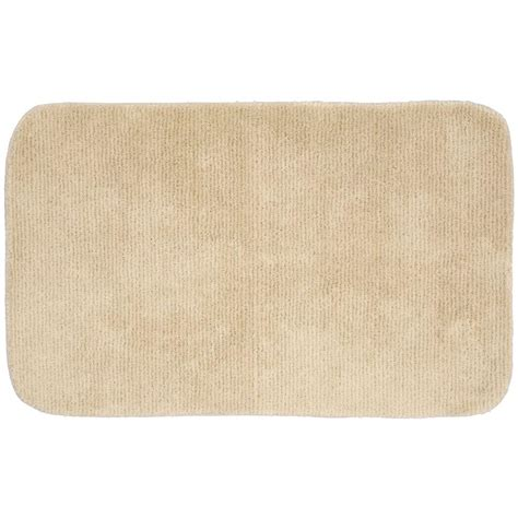 Accent Rugs For Bathroom Garland Rug Glamor Linen 24 In X 40 In Washable Bathroom Accent Rug Alu 2440 05 The Home Depot