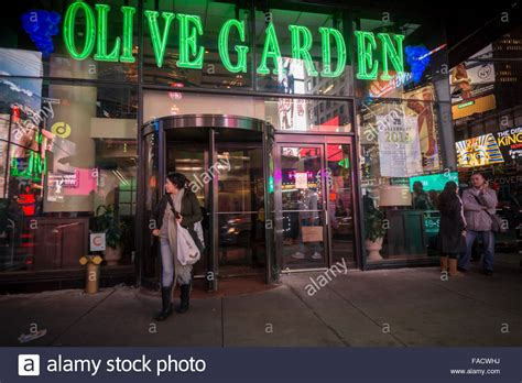Garden Times Square by An Olive Garden Restaurant In Times Square In New York Is