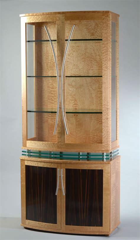 custom made china cabinets custom made china cabinet deco style modern display