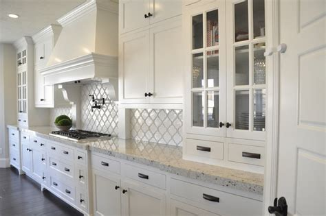 Kitchen Countertop Tile Design Ideas Kitchen Backsplash Ideas White Cabinets And With Dark