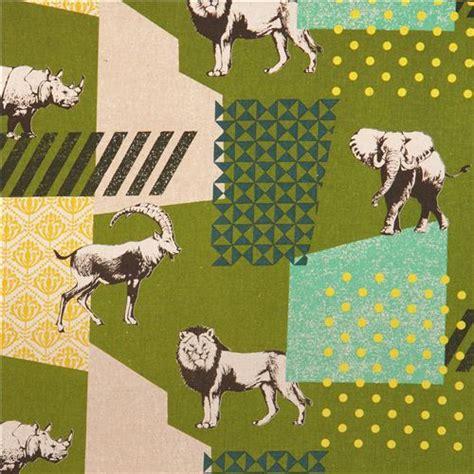 html input pattern safari green echino zon canvas fabric pattern safari animals from