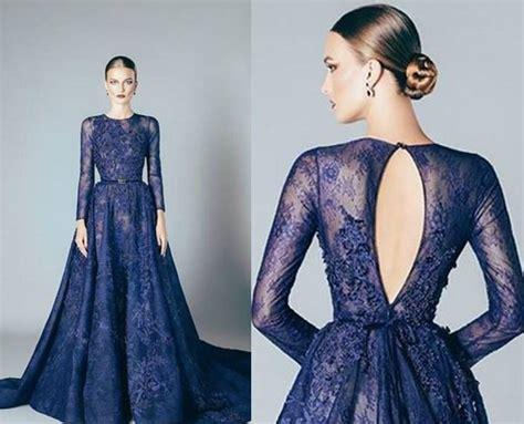 Black Split Longdress W8180usi D navy blue 2017 evening dresses lace formal 2016 elie saab