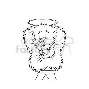 merry christmas baby jesus cartoon black white clipart royalty  gif jpg png eps svg ai