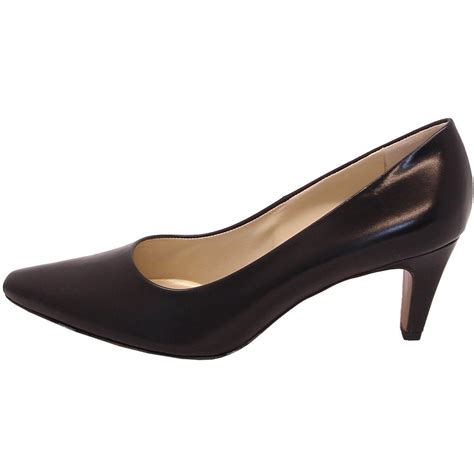 Court Shoes by Kaiser Manolo Black Leather Court Shoe Classic