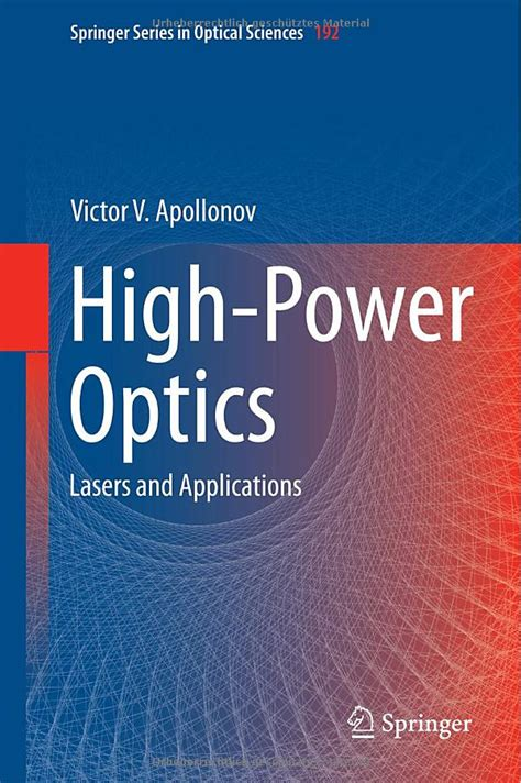 the of high energy books high power optics lasers and applications free ebooks