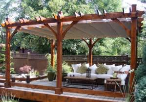 Retractable Roof Pergola Sale by Cedar Pergola W Canopy Bz1220wrc Outdoor Living Today Sale