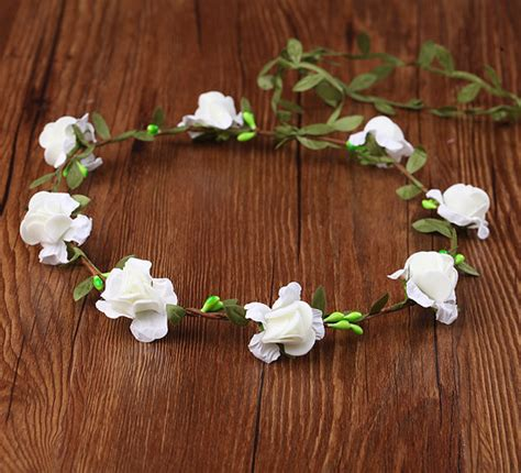 Handmade Flower Crown - wedding handmade flower crown flower wreath for