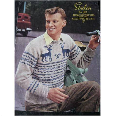 sirdar mens knitting patterns vintage sirdar knitting pattern 1661 mens sweater