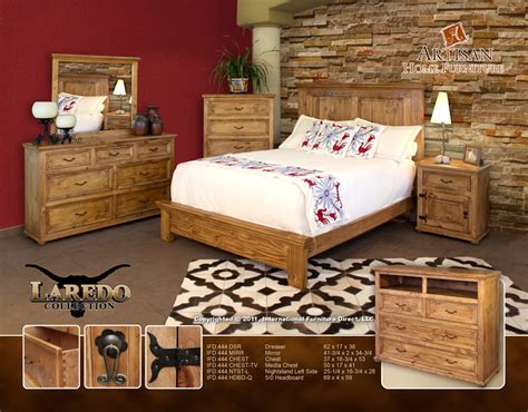 Cowhide Bedroom Furniture Ifd 444 Laredo Cowhide Bedroom By Artisan Furniture