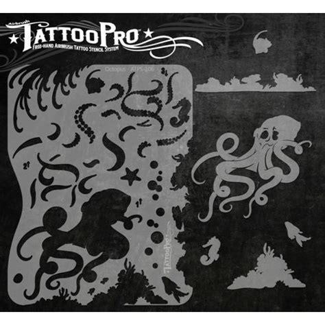 pro black tattoos airbrush pro octopus stencil