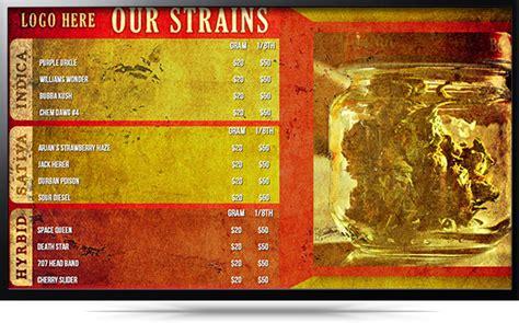Digital Signage Team Maryjane Dispensary Menu Template