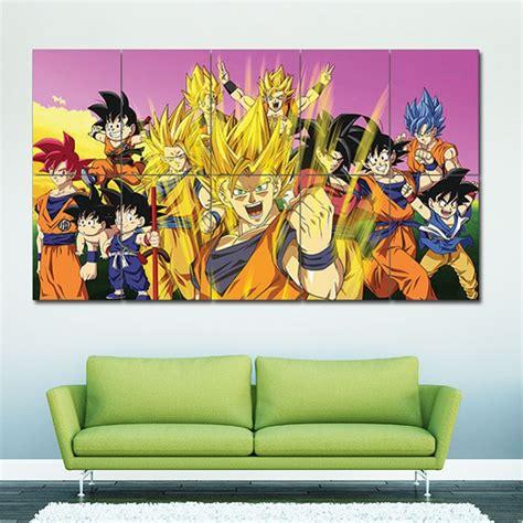 dragon ball  goku characters block giant wall art poster