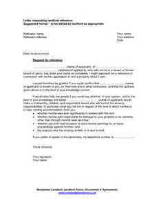 Reference Letter For Potential Landlord Tenant Reference Letter